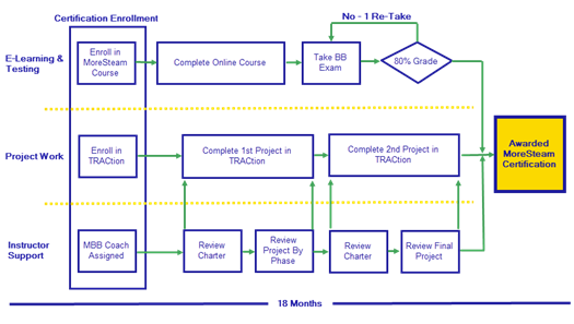 Large Black Belt Process Map