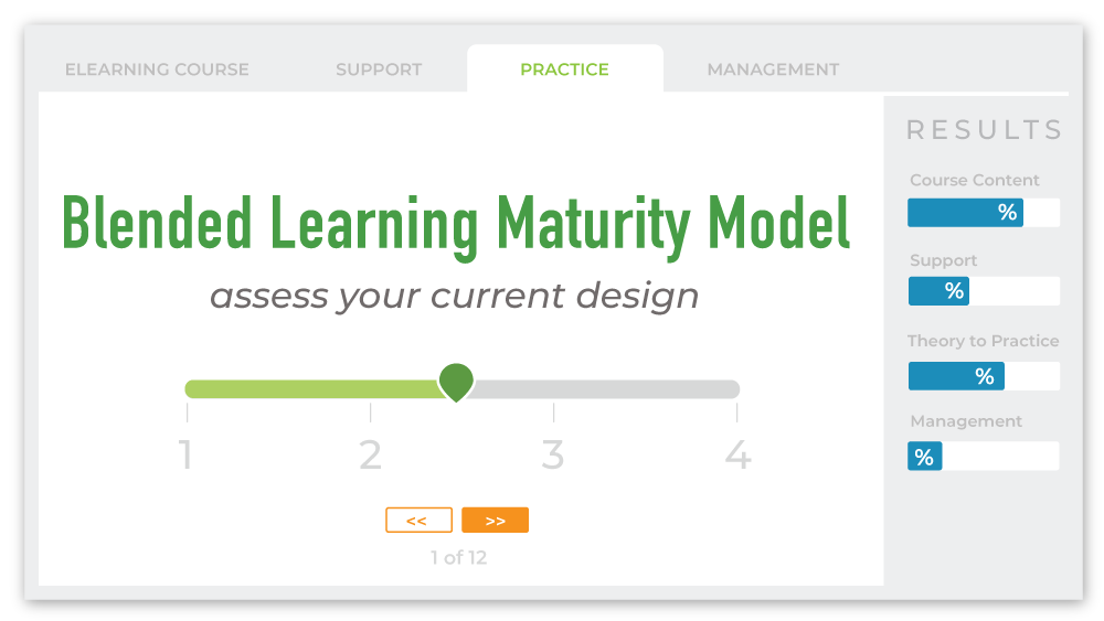 Blended Learing Maturity Modal to assess your current design