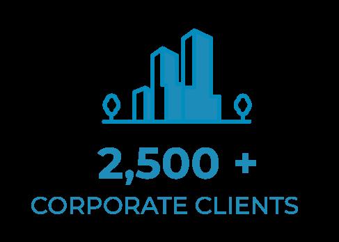 2,500+ corporate clients