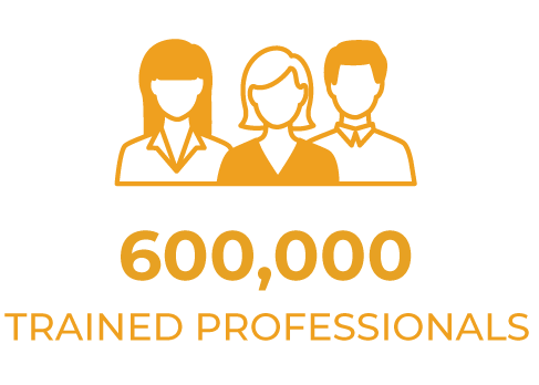 600,000+ trained professionals