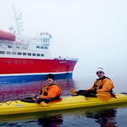 Joe Tanner Kayaking in Antartica