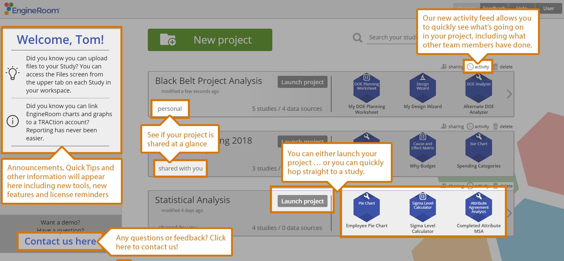 Engineroom Data Analysis Tool Updates