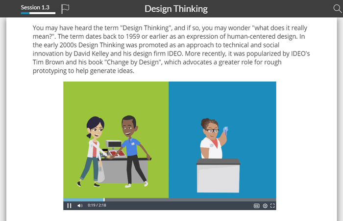 Design thinking video example