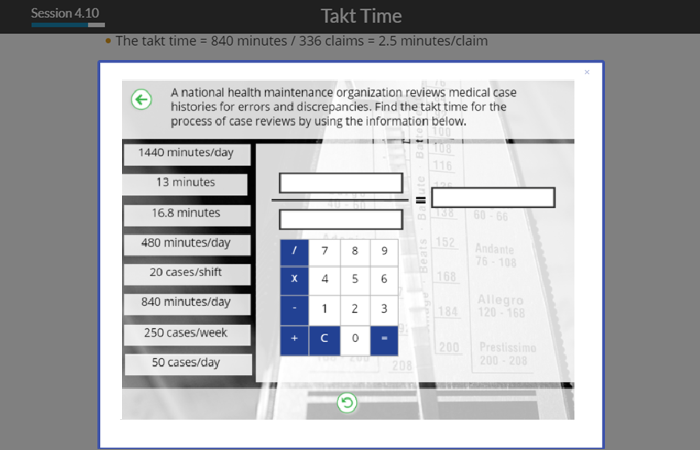 Takt Time Calculator Example
