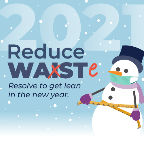 Reduce Waste. Resolve to get Lean in the new year.