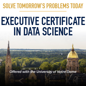 Executive certificate in data science.