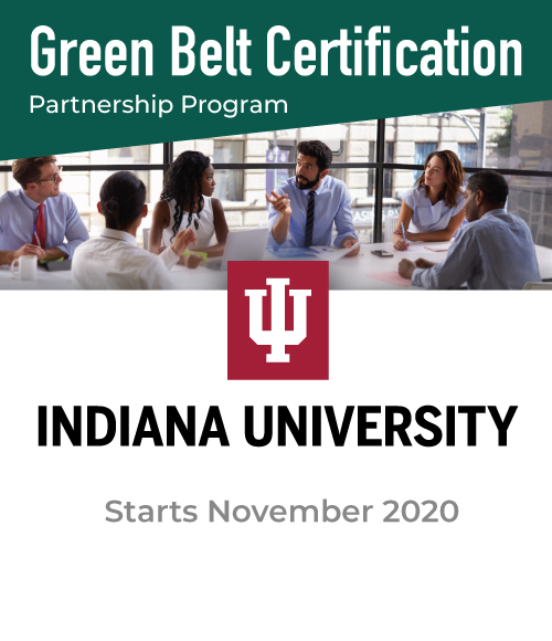 Green Belt Certification Partnership Program with Indiana University