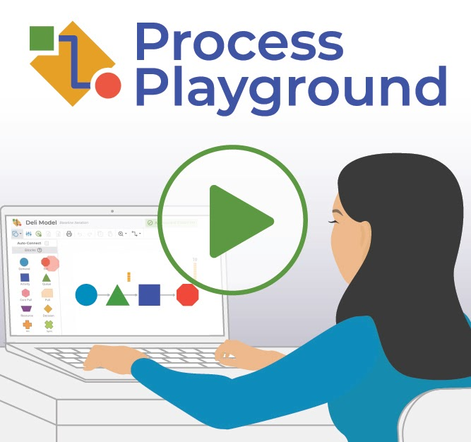 New Process Playground discrete event simulation tool.