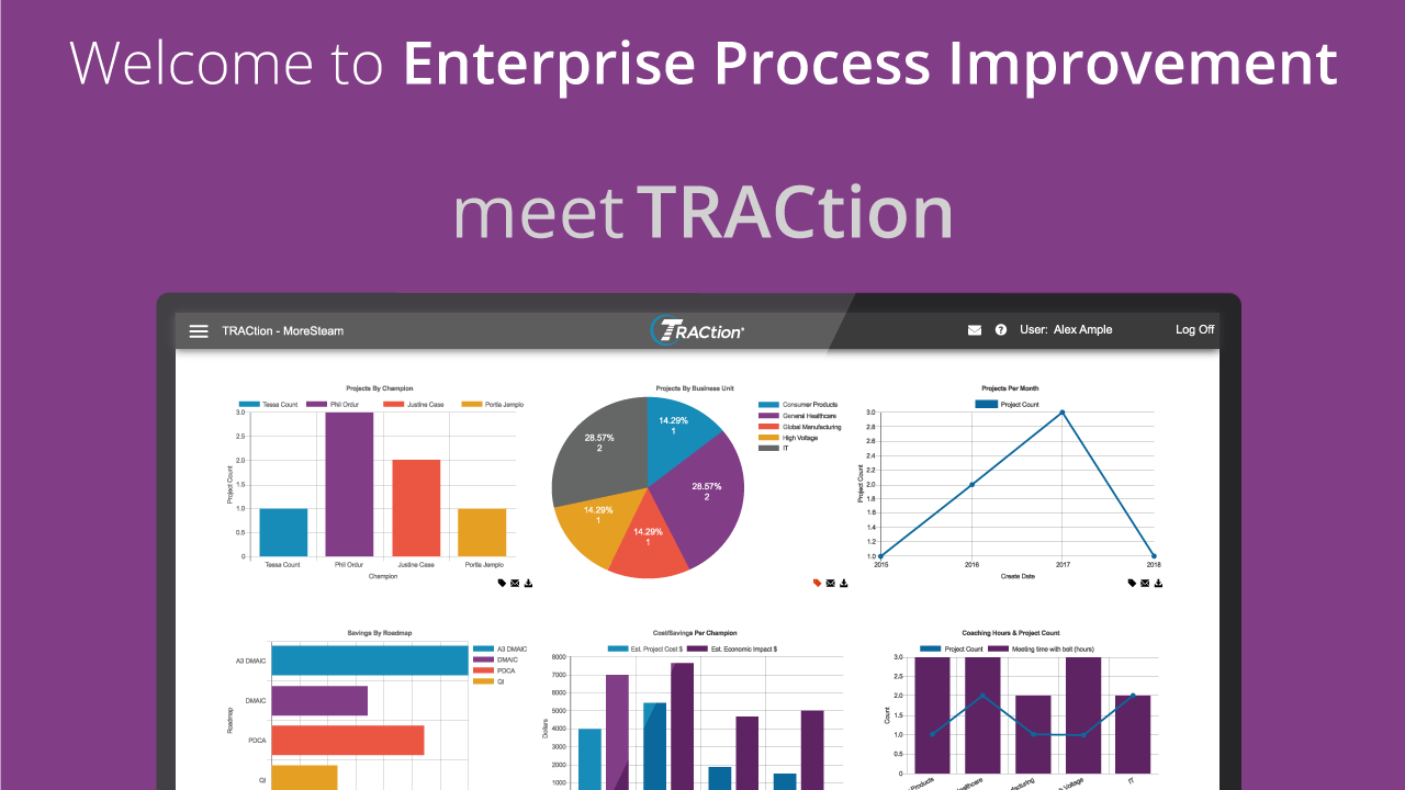 Lean Six Sigma Project Management Traction Software